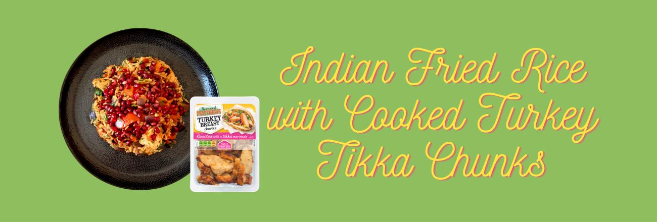 Indian Fried Rice with Turkey Tikka Chunks